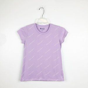 Kid's CHAMPION Printed Lilac Graphic Top Large